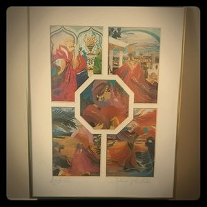 🇨🇦Vintage artist signed print Women of the Bible